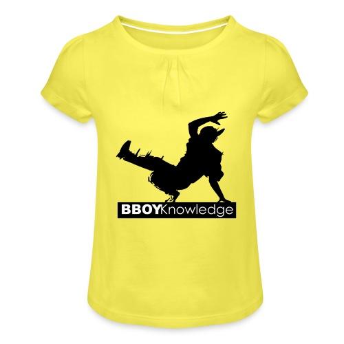 Bboy knowledge noir & blanc - T-shirt à fronces au col Fille