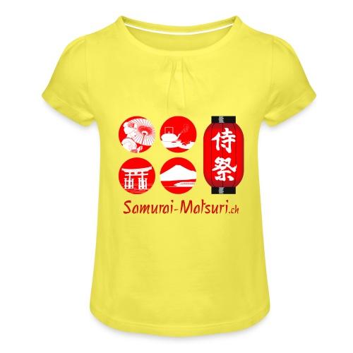 Samurai Matsuri Festival - Mädchen-T-Shirt mit Raffungen