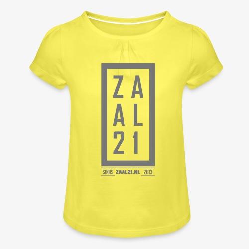 T-SHIRT-BLOK - Meisjes-T-shirt met plooien
