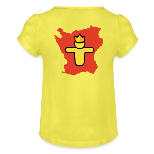 Turf Skåne symbol - T-shirt med rynkning flicka