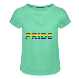 Gay pride in rainbow kleuren - Meisjes-T-shirt met plooien