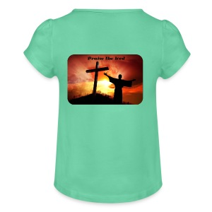 Praise the lord - T-shirt med rynkning flicka