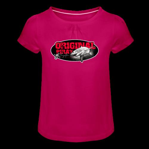 Originalpirat 2018 - Mädchen-T-Shirt mit Raffungen