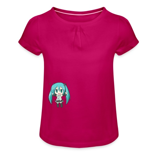 Chibi Miku! - Girl's T-Shirt with Ruffles