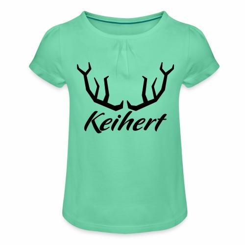 Keihert gaan - Meisjes-T-shirt met plooien