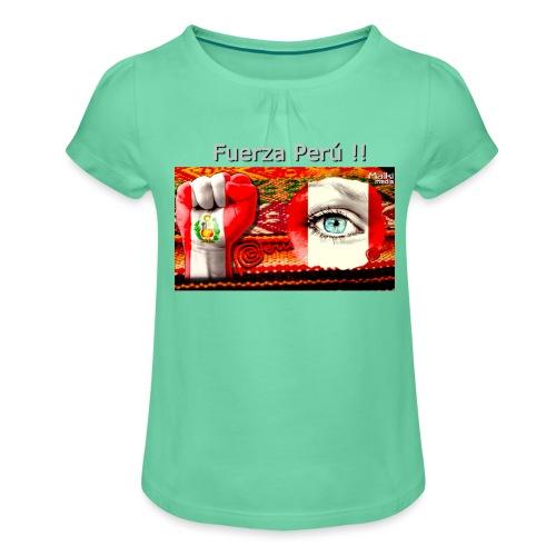 Telar Fuerza Peru I. - Mädchen-T-Shirt mit Raffungen