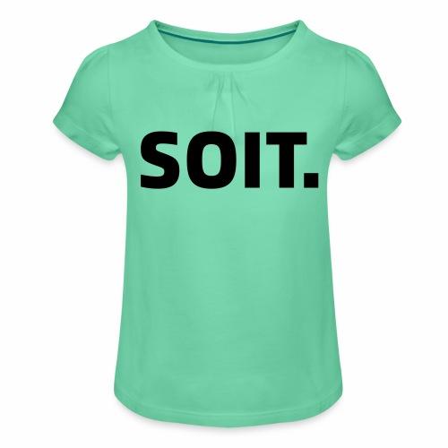 SOIT - Meisjes-T-shirt met plooien