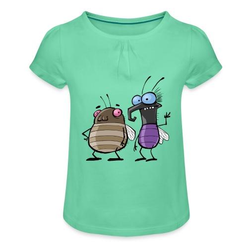 Teenager Premium Langarmshirt Insekten - Mädchen-T-Shirt mit Raffungen
