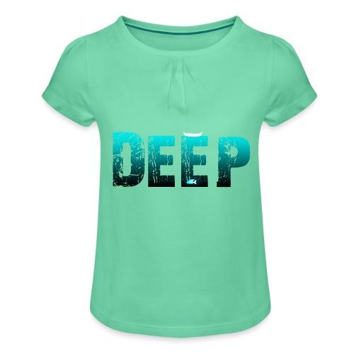 Deep In the Night - Maglietta da ragazza con arricciatura