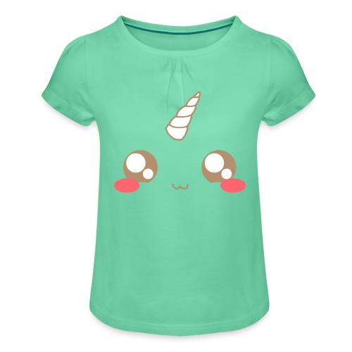 Kawaii_T-unicorn_EnChanta - Girl's T-Shirt with Ruffles