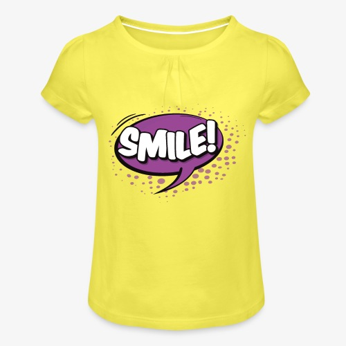 Serie de dibujos animados de los 80s - Camiseta para niña con drapeado