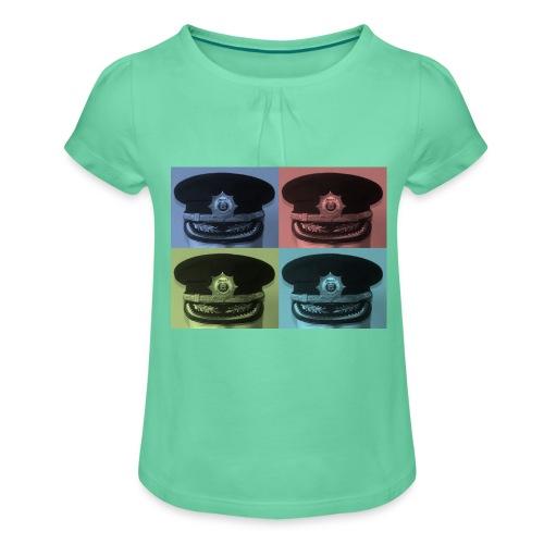 kepis - Camiseta para niña con drapeado