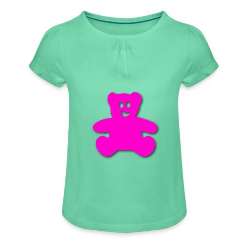 teddy bär - Mädchen-T-Shirt mit Raffungen