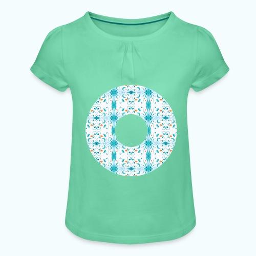 Hippie flowers donut - Girl's T-Shirt with Ruffles