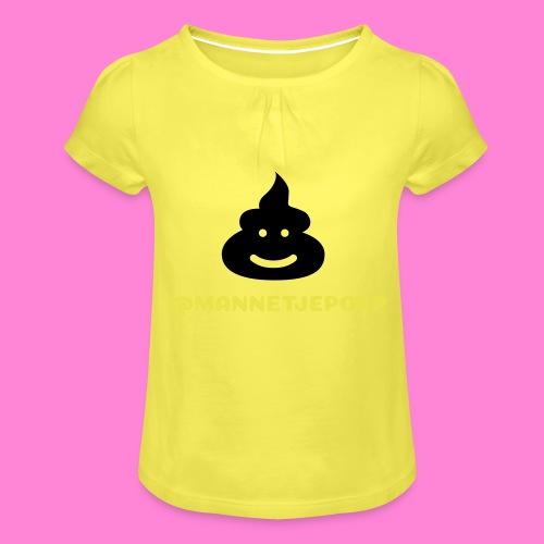 Mannetje Poep Shit - Meisjes-T-shirt met plooien