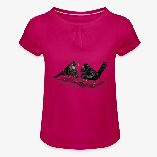 Blackbirds Gardeners - Girl's T-Shirt with Ruffles