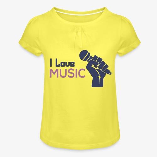 Amo la música - Camiseta para niña con drapeado