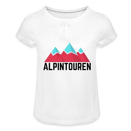 Alpintouren - Mädchen-T-Shirt mit Raffungen