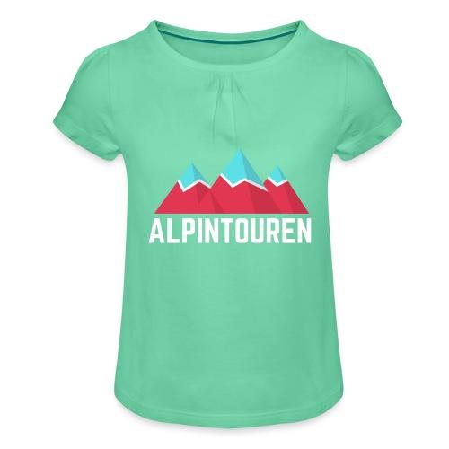 Alpintouren Logo - Mädchen-T-Shirt mit Raffungen