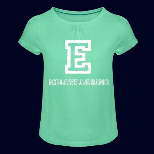 E - Meløyfjæring - Jente-T-skjorte med frynser
