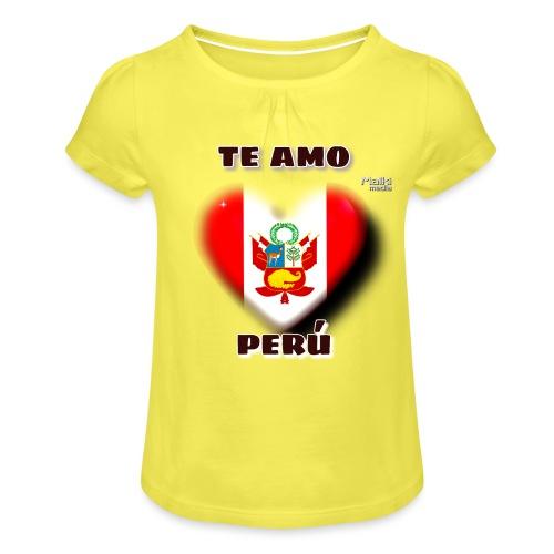 Te Amo Peru Corazon - Girl's T-Shirt with Ruffles