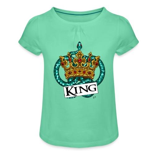 KING - Maglietta da ragazza con arricciatura