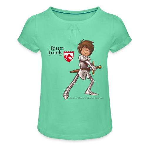 Ritter Trenk Bio-T-Shirt für Kinder - Mädchen-T-Shirt mit Raffungen