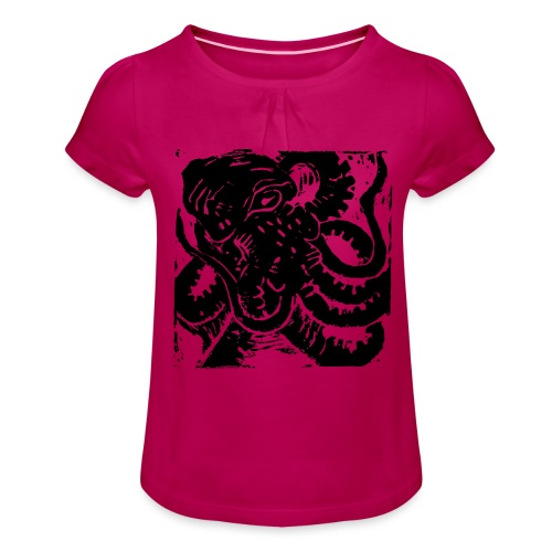 Museum Collection Octopus - Girl's T-Shirt with Ruffles