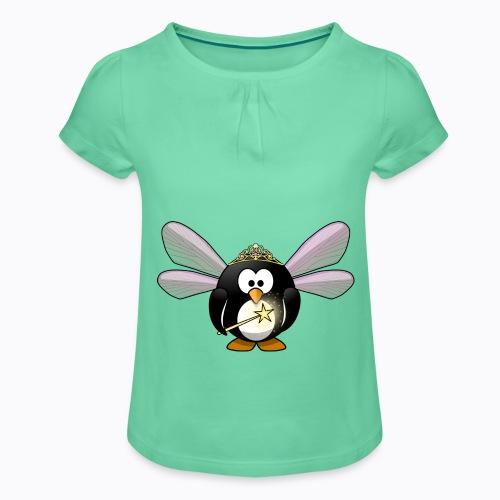 fairy tux - Girl's T-Shirt with Ruffles