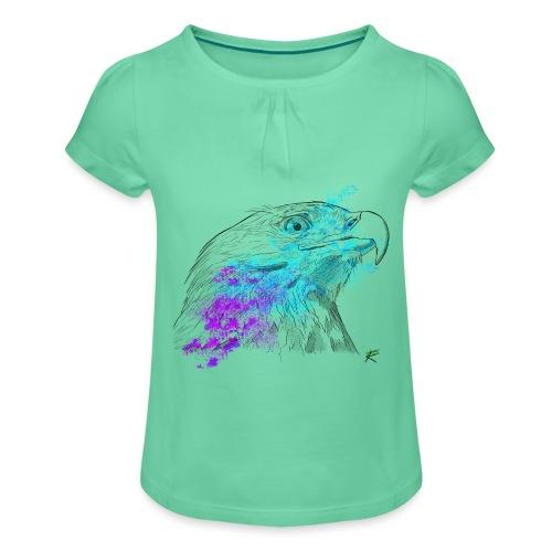 Aquila color - Maglietta da ragazza con arricciatura
