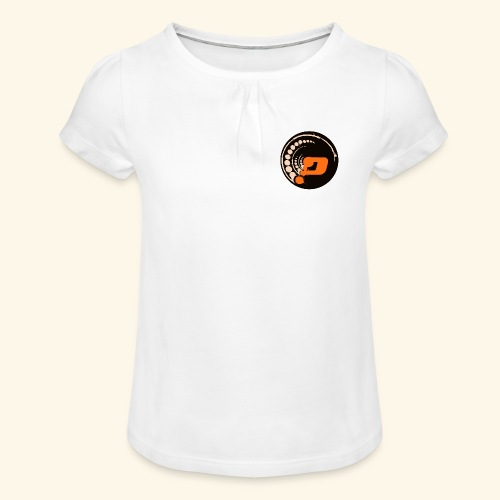 Planet Underground Round Logo - Girl's T-Shirt with Ruffles