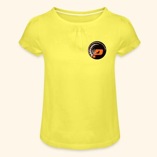 Planet Underground Round Logo - Girl's T-Shirt with Ruffles