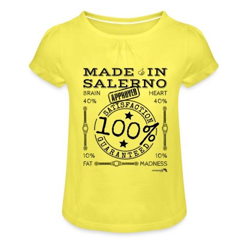 1,02 Made In Salerno - Maglietta da ragazza con arricciatura
