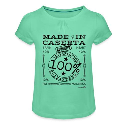 1.02 Made in Caserta - Maglietta da ragazza con arricciatura