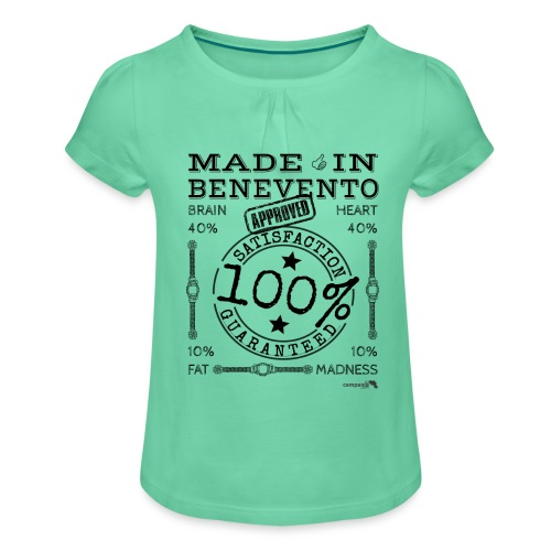 1,02 Prodotto a Benevento - Maglietta da ragazza con arricciatura