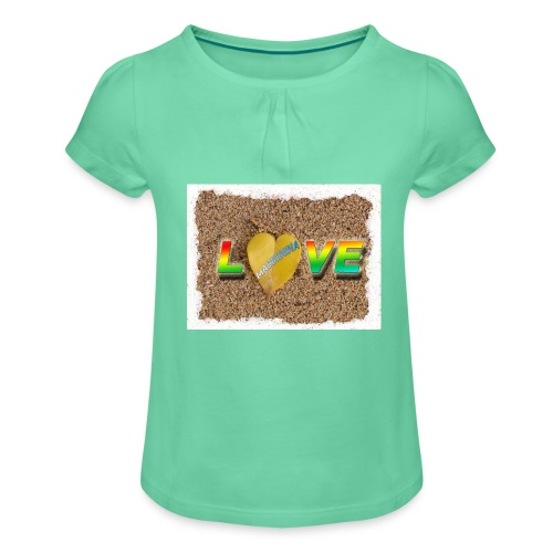 love,madinina - T-shirt à fronces au col Fille
