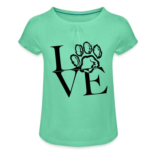 LoVE - Mädchen-T-Shirt mit Raffungen