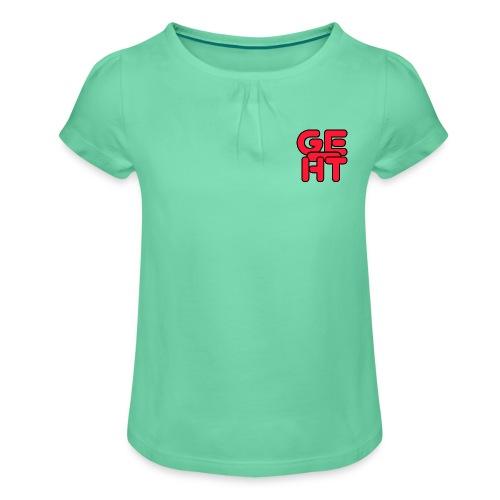 Geiht - Camiseta para niña con drapeado