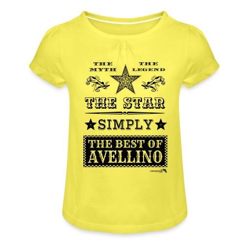 1,03 The Star Legend Avellino - Maglietta da ragazza con arricciatura