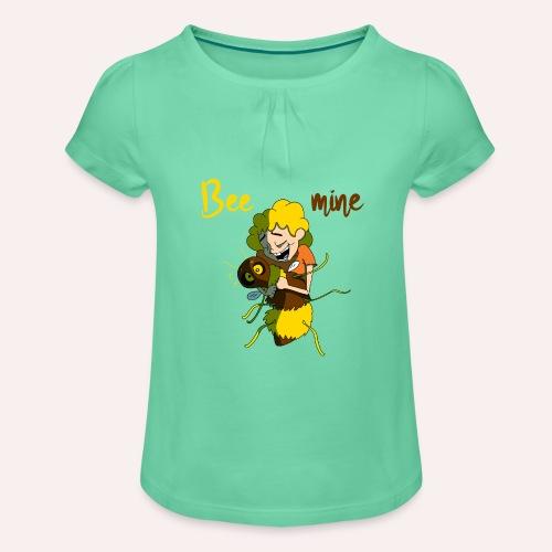 Bee mine - T-shirt à fronces au col Fille