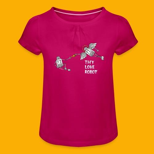 Gods gift - Meisjes-T-shirt met plooien