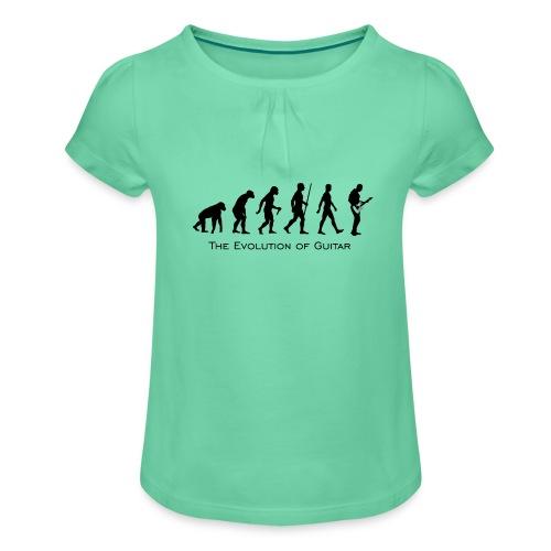The Evolution Of Guitar - Camiseta para niña con drapeado