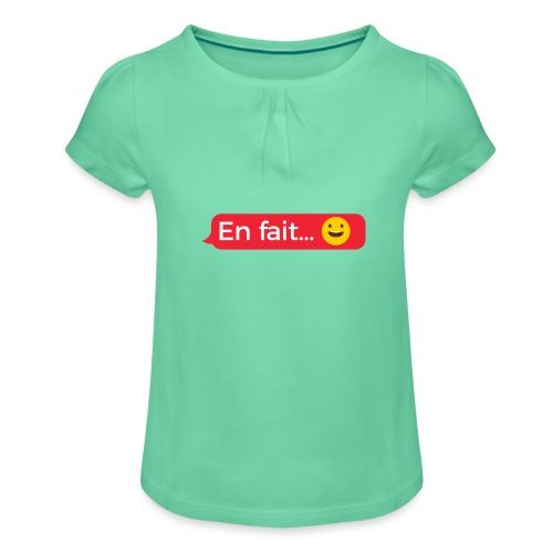 En fait - T-shirt à fronces au col Fille