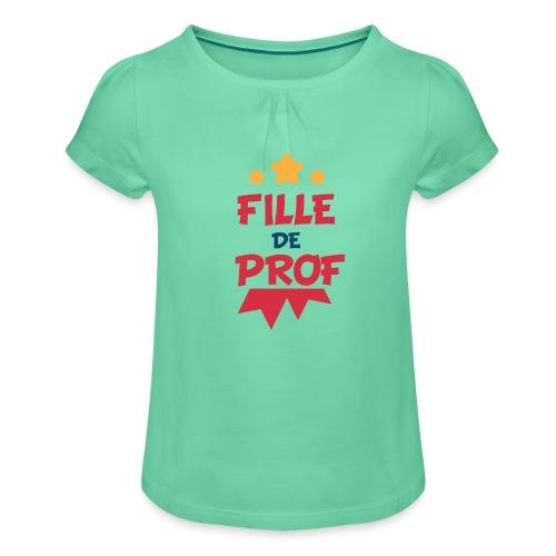Fille de prof - T-shirt à fronces au col Fille
