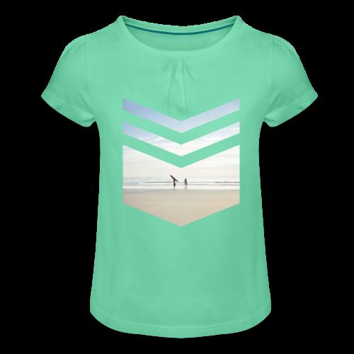 Surf Beach Triangle - Mädchen-T-Shirt mit Raffungen