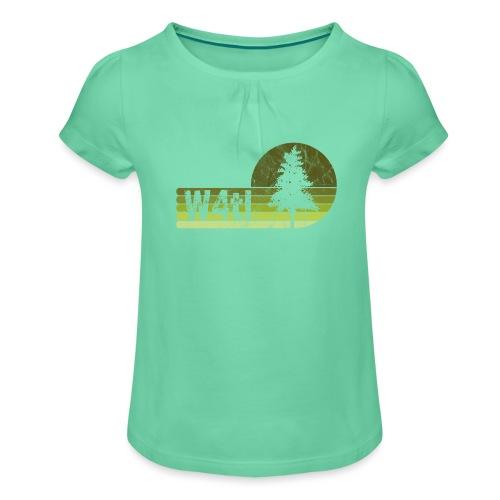 W4tl Vintage - Mädchen-T-Shirt mit Raffungen
