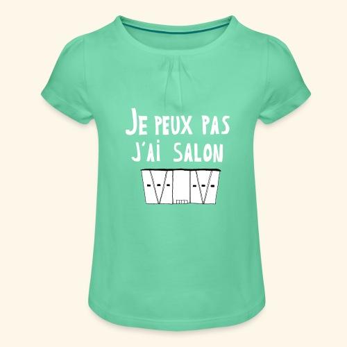 Je Peux pas j ai salon - T-shirt à fronces au col Fille