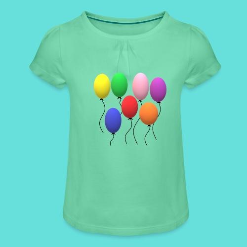 ballons - T-shirt à fronces au col Fille