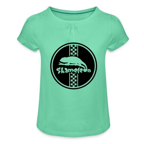 skameleon Logo - Mädchen-T-Shirt mit Raffungen