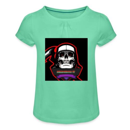DerMagier432YT Shop - Mädchen-T-Shirt mit Raffungen